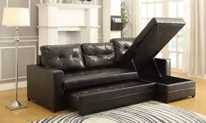 Sealy Leather Sofa Couch With Storage Chaise Storage Decorations