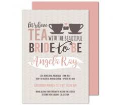 stunning bridal shower invitations high tea invites available