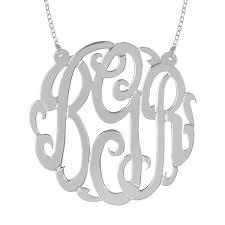 Sterling Silver Monogram Jewelry Monogram Silver Jewelry Be Monogrammed