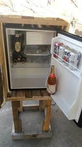 Cabinet For Mini Refrigerator Pallet Mini Fridge Cabinet The Secret Elephant Playground