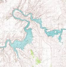 Topographic Map Of Arizona by Fred U0027s Guide To Lake Powell Middle San Juan