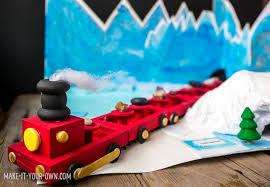 Make Your Own Wooden Toy Train by Small World Holiday Train