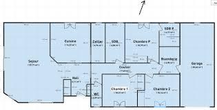 plan maison plain pied 5 chambres maison plain pied en longueur plan de maison plain pied 5 chambres