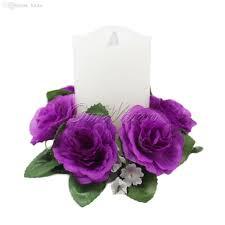 Wholesale Floral Centerpieces by Discount Wholesale Floral Candle Rings Wedding Centerpieces Silk
