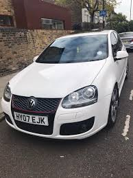 volkswagen white car vw mk5 golf gti dsg 2007 5dr white sunroof in hackney london