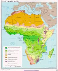 africa map atlas africa vegetation and plant distribution maps library
