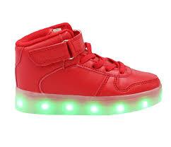 Kids Light Up Shoes Galaxy Led Shoes Light Up Usb Charging High Top Lace U0026 Strap Kids
