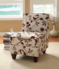 funiture white upholstered accent chairs without arm and short