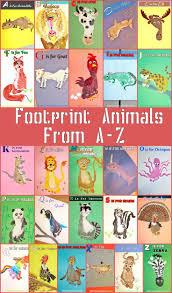 kid u0027s footprint animal crafts for a z footprints pinterest