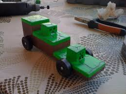 minecraft car my pinewood derby car this year i think it turned out pretty good