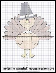 mystery picture graph turkey thanksgiving math activities