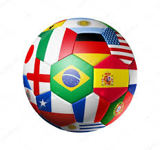 Portugal Football Flag Football Soccer Ball With World Teams Flags U2014 Stock Photo