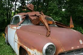 rusty car sam u0027s 157 rusty sculpture on rusty car minnesota prairie roots