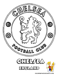 08 chelsea football soccer futbol at coloring pages book for kids