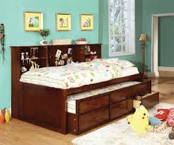 twin captain daybed with trundle and storage