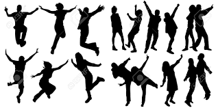 party silhouette silhouette people party dance royalty free cliparts vectors and