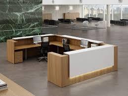 banque de bureau banque d accueil z2 wengé et blanche par design mobilier bureau