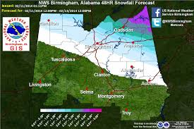 Map Of Alabama And Tennessee by Major Winter Storm To Impact Alabama The Alabama Weather Blog