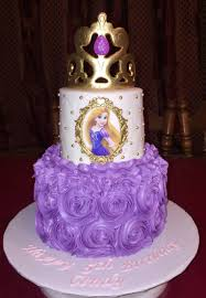 tangled birthday cake i made this 2 tier rosette repunzel cake with edible images and