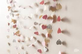 wedding decor paper heart garland