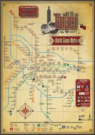 Taipei Mrt Map Designer Creates Retro Taipei Mrt Map Taiwan News