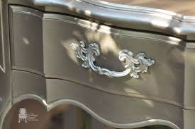 french provincial nightstands in modern masters metallic paint