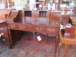 antique style writing desk old english inlaid solid mahogany sheraton style carlton house