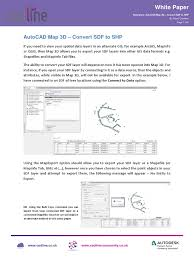 autocad map 3d convert sdf to shp auto cad geographic data