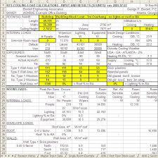 Hvac Load Calculation Spreadsheet by Sbs5225 Hvacr I