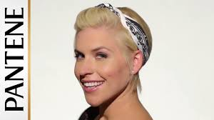 how to wear a bandana with short hair easy hairstyles for short hair bandana pin up pixie cut youtube