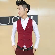 2015 new summer style plus size men single brest black red suit