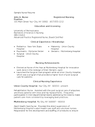 sample resume for registered nurse position download sample nurse writing task docshare tips