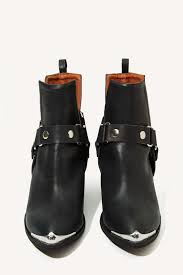 orwell boot lyst gal jeffrey cbell orwell leather harness boot in black