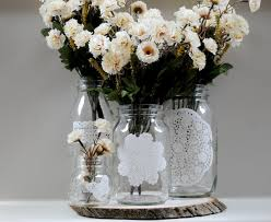 alluring picture for decoration mason jars with glass element on
