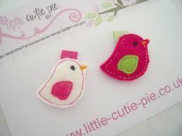 baby hair clip baby felt bird hair clip