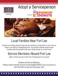 fort uso dunkin donuts adopt a serviceperson uso of hton