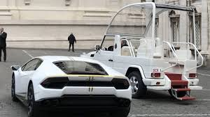 limousine lamborghini pope francis gets a snazzy new 237k lamborghini as gift and