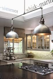 outstanding brushed nickel industrial pendant lighting for kitchen