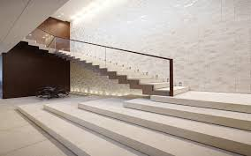 Stone Banister Glorious Modern Straight Staircase Design With Glass Banister