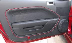 mustang door panel leather door inserts york mustangs forums