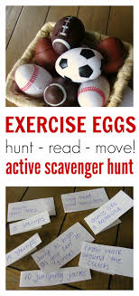 backyard treasure hunt exercise eggs find move scavenger hunt no time for flash cards