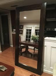 Closet Mirror Door Diy Large Standing Floor Mirror From Scrap Wood And Closet