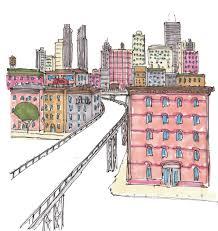 citysketch nyc high line color m wood pen