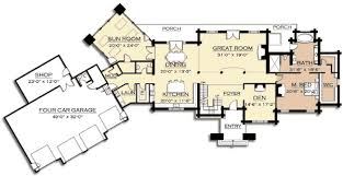 mountain floor plans mountain lodge with sun room 18704ck architectural designs