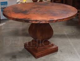 hammered copper dining table hammered copper kitchen table kitchen tables design
