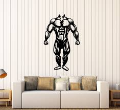 vinyl wall decal muscles gym bodybuilding muscled anatomy stickers