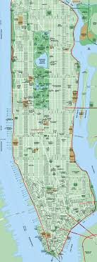 detailed map of new york map of manhattan new york city detailed manhattan map