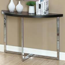 furniture attractive white narrow entryway tables and half moon