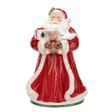 spode christmas tree red santa cookie jar spode usa