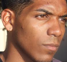 mens earring men gold hoop earring solid gold earring men small gold